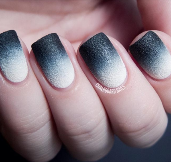 Ombre Chalk Nails