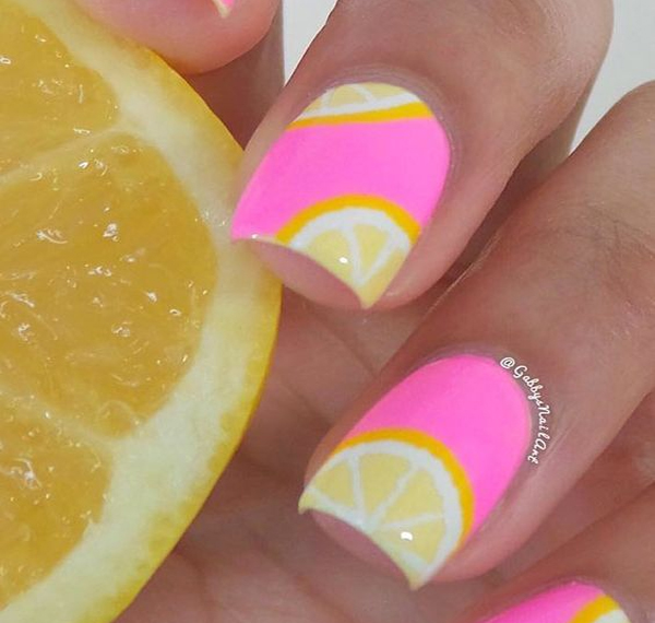 Sunshine and Lemonade Nail Art