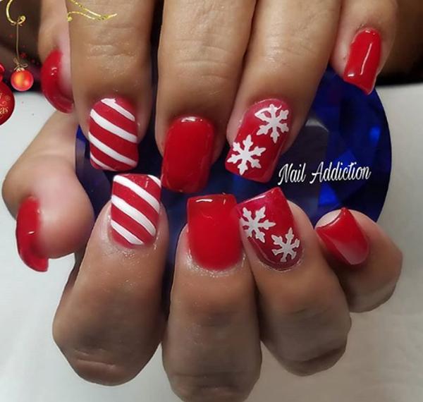 christmas nail acrylic